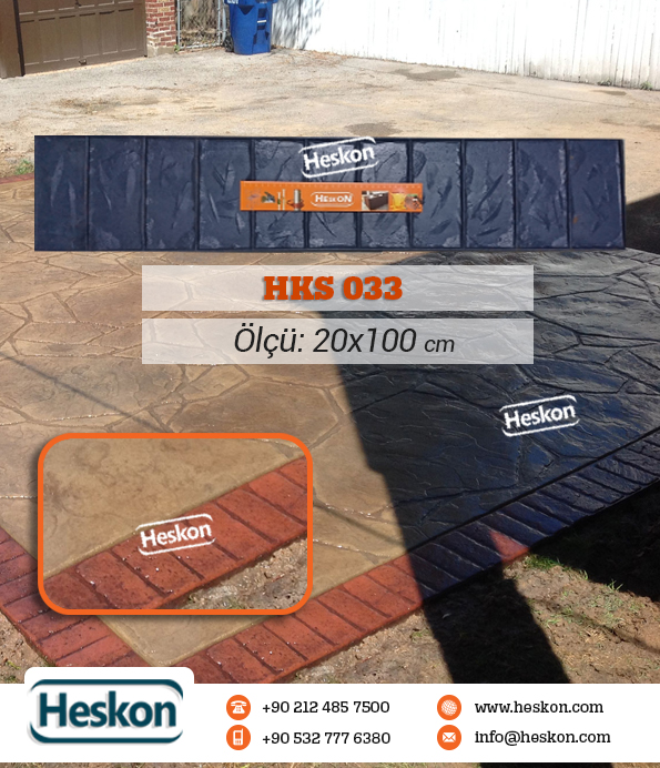 033 Hks Stamped Concrete Border Pattern Baski Beton Kalibi