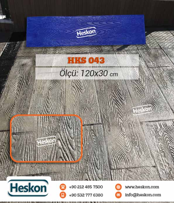 043 Hks Ahsap Baski Beton Wood Concrete Stamp